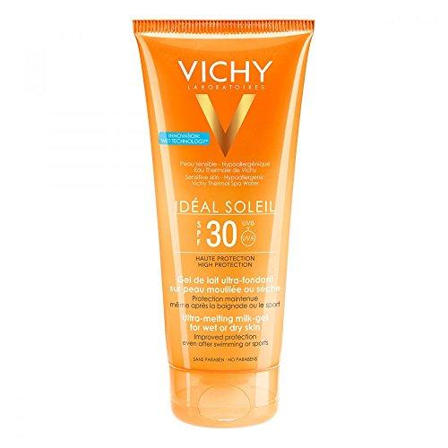 VICHY Idéal Soleil Ultra leichte Gel-Milch für nasse oder trockene Haut SPF 30, 200 ml Creme