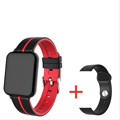 WFQ Smart Watch Smart Watch für Männer und Frauen, Tracker, Herzfrequenzmesser, Sport Multimode, Smart Band Watch für Männer und Frauen Pk Add 12 Red Strap