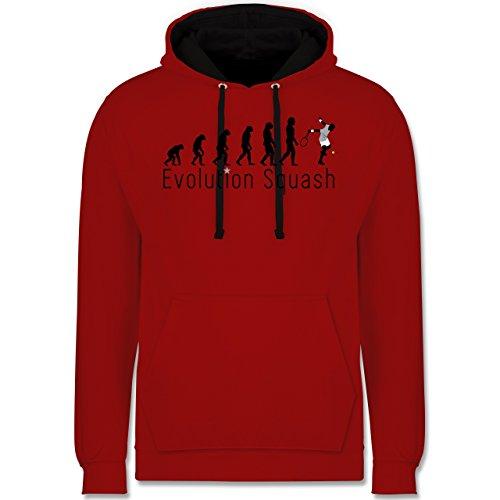 Shirtracer Evolution - Squash Evolution - L - Rot/Schwarz - Evolution - JH003 - Hoodie zweifarbig und Kapuzenpullover für Herren und Damen