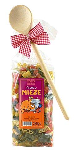Pasta Präsent Mieze mit bunten Katzennudeln handgefertigt in deutscher Manufaktur
