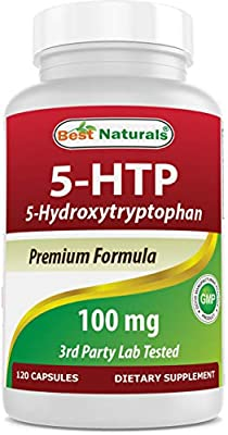 Best Naturals 5-HTP 100 mg 120 Capsules, 5 HTP Capsules Supports Relaxation & restful Sleep, 7.0 Ounces