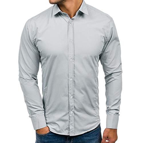 CICIYONER Herren-Hemd – Slim-Fit – Bügelleicht – Für Anzug, Business, Hochzeit, Freizeit – Langarm-Hemd für Männer M-3XL