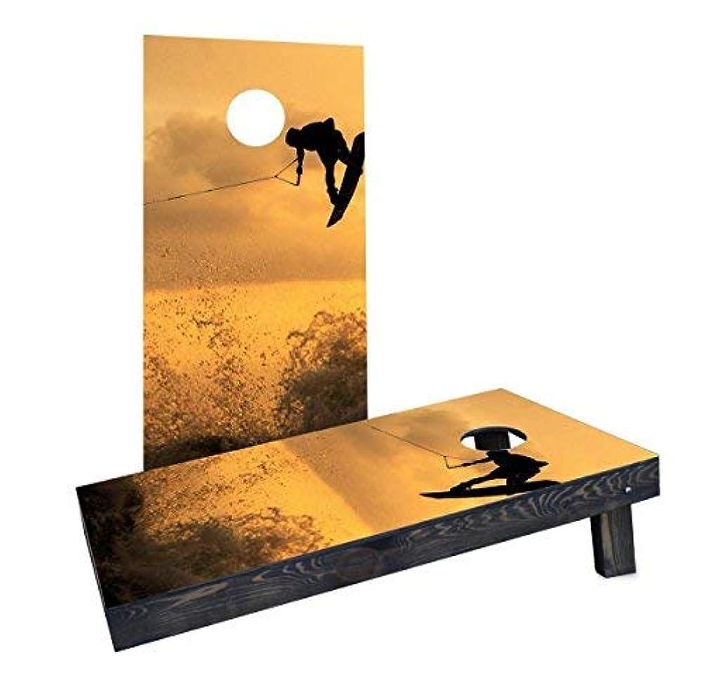 スナッチ主人有益なCustom Cornhole Boards CCB1691-2x4-AW Sunset Wake boarding Cornhole Boards [並行輸入品]
