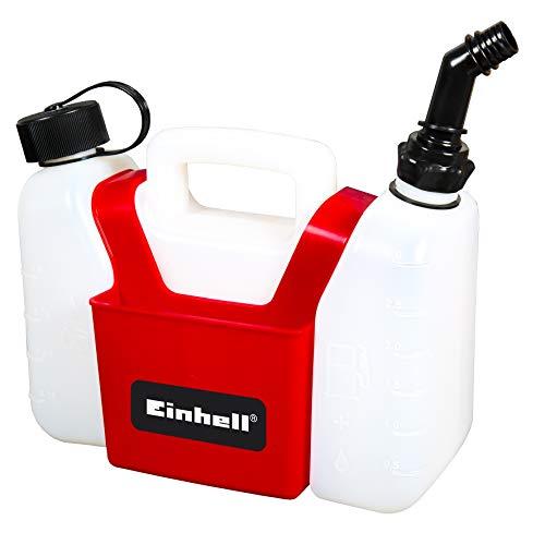 Original Einhell Kombi-Kanister (1,25 l Öltank, 3 l Benzintank, inkl. Werkzeugtasche)