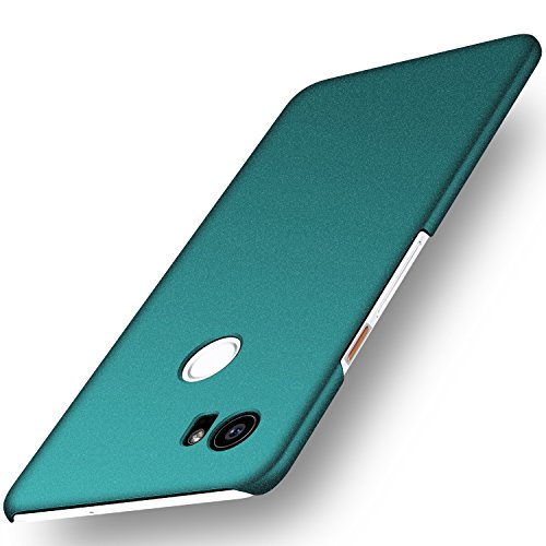 Arkour Compatible with Google Pixel 2 XL Case, Minimalist Excellent Grip Smooth Matte Surface Hard Slim Cover for Google Pixel 2 XL (Gravel Green)