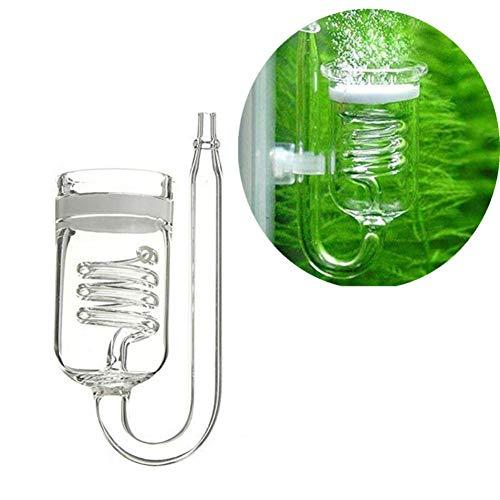 Yalatan Aquarium CO2-Diffusor, schraubenförmiger CO2-Diffusor aus Glas mit hoher Auflösungsrate