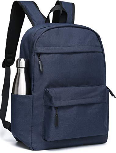 SAKUTANE Plain Backpack 21Liter Waterproof Rucksack 15.6 inch Laptop School Bags Mens Womens Girls Boys Kids 33 x 14 x 44 cm Travel Hiking Business