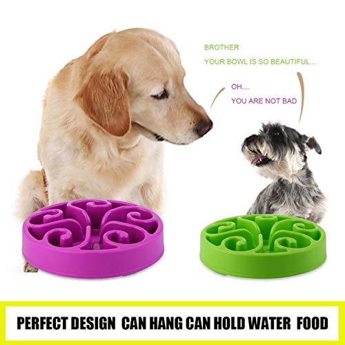LoveOlvidoD Hundenapf,Pet Bowl,Dog Bowl,Gesunde Nahrungsmittelschüssel-langsame Essen Anti-Würgen Anti Choke Dog Cat Pets Feeder Bowl