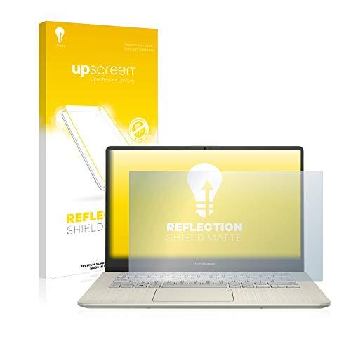 upscreen Entspiegelungs-Schutzfolie kompatibel mit Asus VivoBook S14 S430UN – Anti-Reflex Bildschirmschutz-Folie Matt