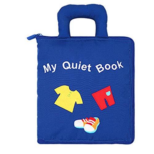 Bettying Baby-Tuch-Buch-weiche Bücher für Babys Kleinkinder Multifunktionsfrühes Bildungs-Spielzeug kein verblassendes Tuch-Buch für Kleinkind-Kleinkinder