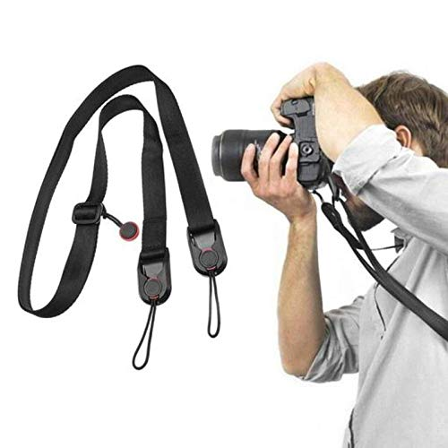 ZGHYBD Universal Camera Strap,Adjustable Camera Shoulder Neck Strap with Quick Buckle Kit and Quick Release Plate Anchor, for Women Men All Cameras