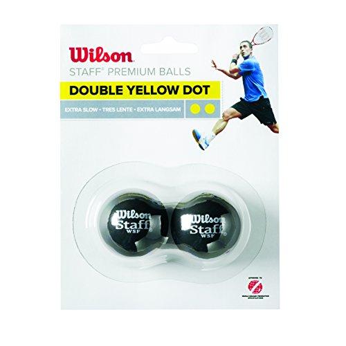 Wilson WRT617600 Balle de Squash, Staff, 2...