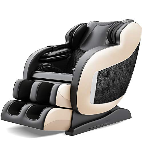 Real Relax 2020 3D Massage Chair Recliner with Bluetooth, Space Saver, Body Scan, SL Track, and...