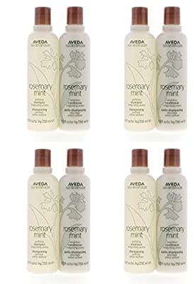 Aveda Rosemary Mint Purifying Shampoo 8.5oz & Weightless Conditioner 8.5oz Set Pack of 4