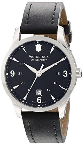 Reloj Victorinox Swiss Army Alliance para Hombres 40mm, pulsera de Piel, cubierta de Zafiro anti-reflejante