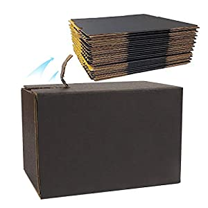 Shipping Mailer Corrugated Cardboard Boxes (25 Pack), Small Packaging Mailing Box Business (5.1 x 3.1 x 3.5 inch), Black…
