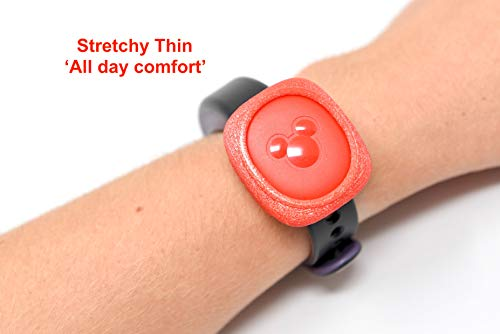 Luke3DP Watch Adapter Compatible with Disney Magic Band/Narrow Band Fitness Trackers (Pink)