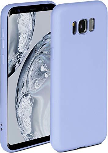 ONEFLOW Soft Hülle kompatibel mit Samsung Galaxy S8 Hülle aus Silikon, erhöhte Kante für Displayschutz, zweilagig, weiche Handyhülle - matt Hellblau