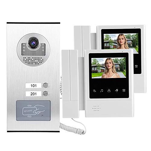 Wosume Intercomunicador Videoportero, Videoportero Inteligente Equipo Comercial para Villas residenciales(European regulations)