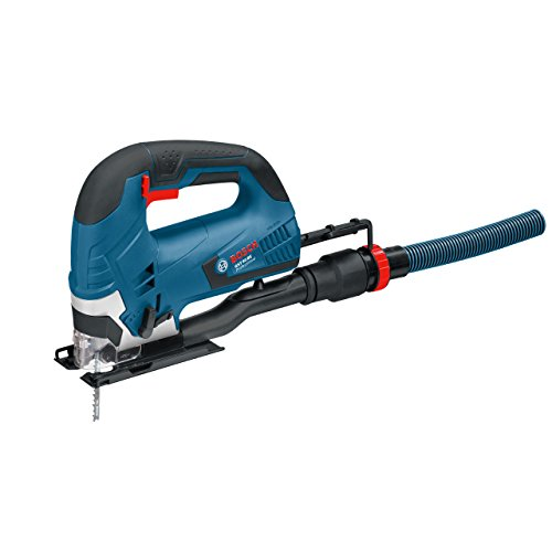 Bosch Professional jigsaw GST 90 BE (650 watts, incl. dust extraction set, Hex key WAF 5, Anti-splinter guard, 1 x jigsaw blade T 144 DP, Precision for Wood, carrying case)
