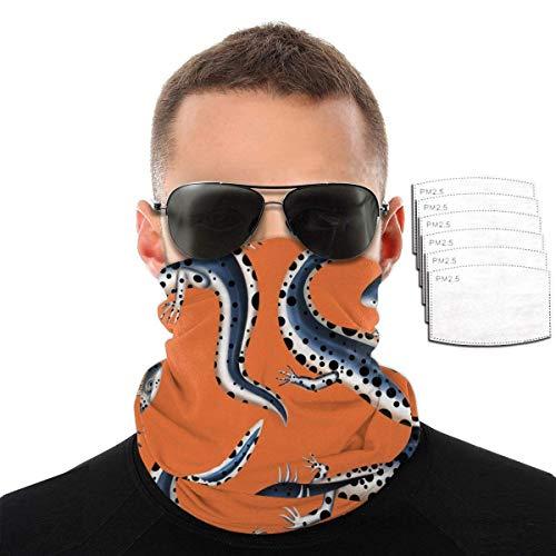 P PIPIGOU Dustproof Scarf Komodo Dragons Windproof Mask Unisex Masks