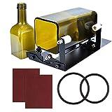 Pateacd Glasschneider für Flaschen Eckig Set, Rund Edelstahl Flaschenschneider Glas Schneiden, Glasflaschenschneider, DIY Tool,Normal