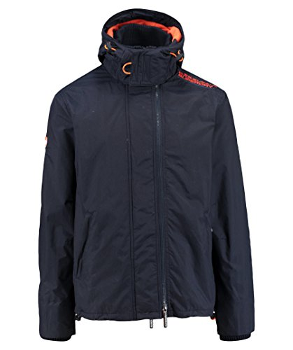 SUPERDRY Herren Jacke Pop Zip Hooded Arctic Windchea, Blau (French Navy/Jaffa46S), L