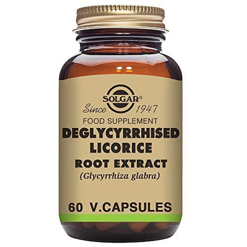 Solgar Regaliz desglicirrizado Extracto de Raíz Cápsulas vegetales - Envase de...