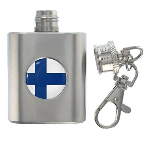 1StopShops miniatuur-sleutelhanger van metaal met vlag van Finland