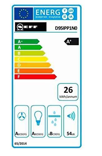Neff D95IPP1N0 Dunstabzugshaube schräg N70 / 90cm / Abluft oder Umluft / EfficientDrive / TouchControl / Energieeffizienz A / Klarglas / schwarz - 10