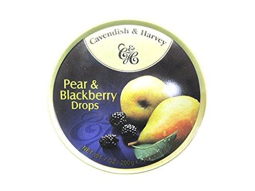 Cavendish & Harvey Pear & Blackberry Drops - Bonbons, 200g in Metalldose