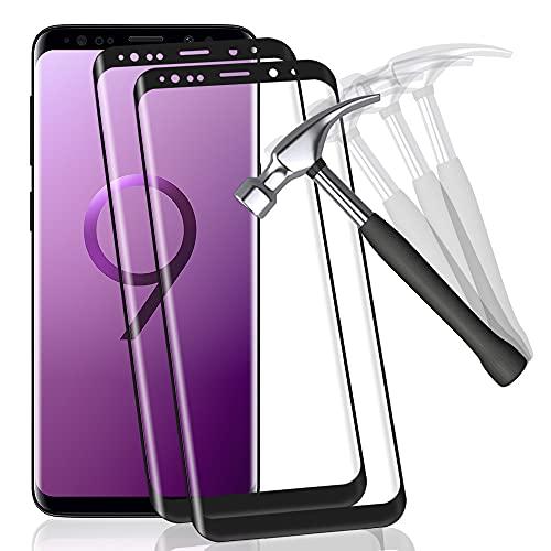 Carantee [2 Stück] Panzerglas Schutzfolie kompatibel mit Samsung Galaxy S9, 9H-Härte, Anti Fingerprint, Kratzfest, HD-Displayschutzfolie, Panzerglasfolie für Samsung S9(Schwarz)