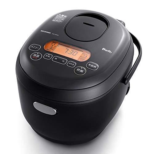 アイリスオーヤマ 米屋の旨み 銘柄炊き ジャー炊飯器 3合 ブラック KRC-MD30-B