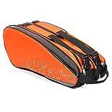 Belupai Sac à dos imperméable pour raquette de tennis, sac de sport professionnel pour raquette de badminton, sac à dos pour accessoires pouvant contenir 6 à 12 raquettes,