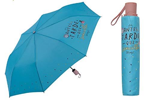 los domingos y en la Cama Wonderful Me Encanta la Lluvia Paraguas Largo Transparente Mr