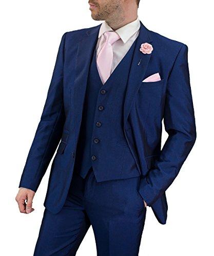 Cavani Herren Ford Anzug 3-teilig Blau (EU 42'' Schrittlänge, EU 48'' Brustumfang/EU 42'' Bundumfang)