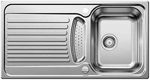 Blanco Toga 5 S Küchenspüle, Edelstahl Naturfinish, inkl. Resteschale, 512640