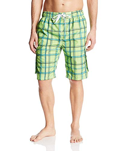 Kanu Surf Men's Swim Trunks (Regular & Extended Sizes), Miles Lime, Large