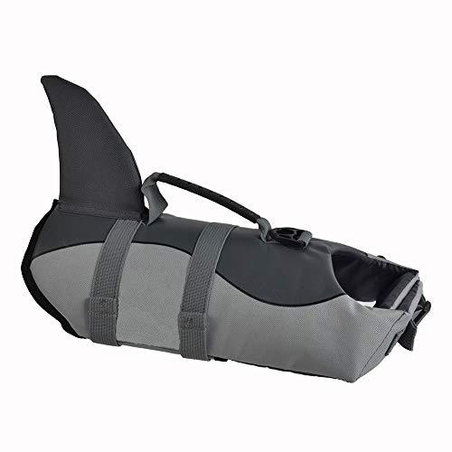 SILD Chaleco Salvavidas para Perro Chaleco de Seguridad Ajustable Salvavidas Chaleco Flotador para Mascota arnés de natación Perro Chaleco Salvavidas(M)