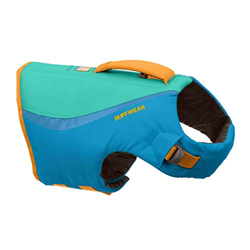 RUFFWEAR, Float Coat Dog Life Jacket, Swimming Safety Vest with Handle, Blue Dusk, Medium