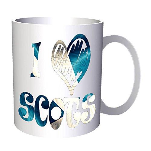INNOGLEN Ich Liebe Schottische Schottland-Flagge 33 cl Tasse u311