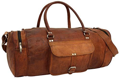 Gusti Reisetasche Ledertasche Sporttasche Gepäcktasche Weekender Vintage Braun Leder