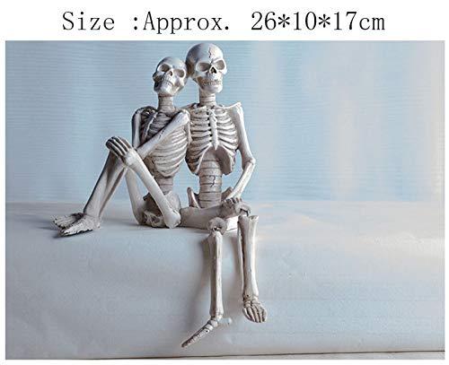 LIAOLEI10 sculptuur Halloween Enge Pop Haunted House Escape Terror Prop Schedel Sculptuur Menselijk Hoofd Hars Replica Medisch Model