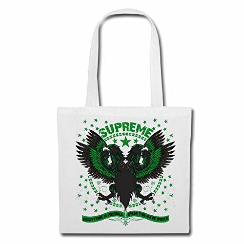 Tasche Umhängetasche Supreme Adler Geier RAUBVOGEL GREIFVOGEL BUSSARD Eagle Geier RAUBVOGEL GREIFVOGEL BUSSARD Einkaufstasche Schulbeutel Turnbeutel in Weiß