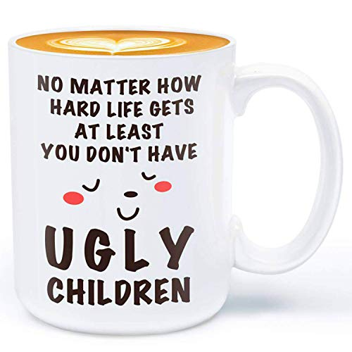 Birthday Gifts for Mum Dad Mug - at Least You Don't Have Ugly Children -...