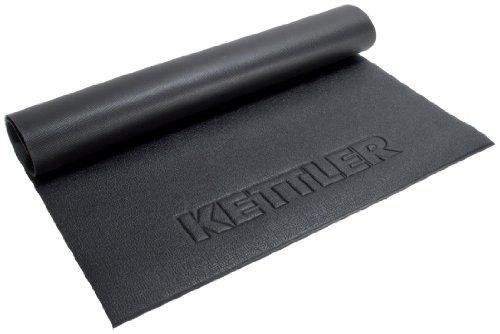 Kettler Bodenschutzmatte – Unterlegmatte für Fitnessgeräte, wie Crosstrainer, Stepper und Co. – Gummimatte zum Schutz des Bodens und zur Geräuschdämmung – schwarz