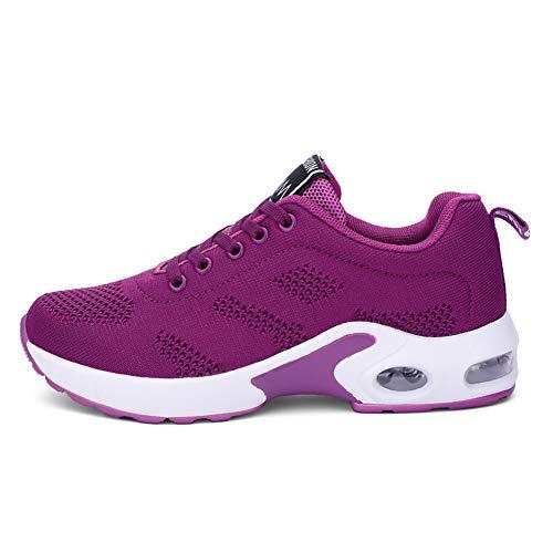 AOQUNFS Zapatos Aire Libre Deportes Danza Mujer Moderna Contemporáneo Comodos Sneaker Deportivas,LYX1727-SW-4,Morado,EU43