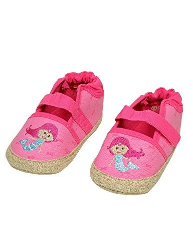 maximo Baby-Lauflernschuhe für Mädchen, pink mandelblüte mit Motiv Meerjungfrau, Anti-Rutsch-Sohle, 100% CO (19 (9-12 Monate))