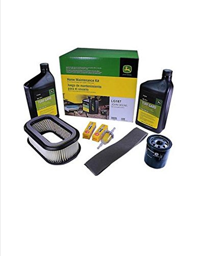 John Deere Maintenance Kit for 425 Lawn Tractor Mower (Serial Number Below 090419) with a Kawasaki Engine LG187 Filters Oil Spark Plugs
