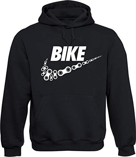 Hoodie: Bike - Fahrrad Kapuzenpullover für Herren & Damen - Geschenk Radfahrer Radsport - Sweatshirt Mountain-Bike MTB - BMX Fixie Rennrad Tour - Sweater Outdoor - Hoody Hooded - Kapuze-n (S)